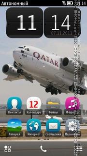 AIR C17 Qatar Flyout theme screenshot