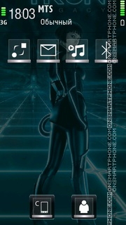 Tron Legacy tema screenshot