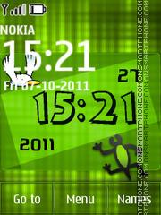 Nature Green Clock theme screenshot