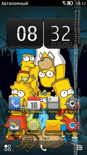 The Simpsons 13 theme screenshot