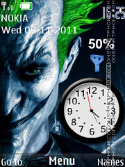 Joker clock theme screenshot