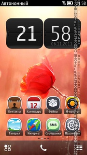 Hd Red Flower Theme theme screenshot