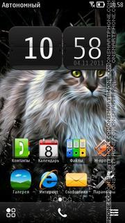 Fantasy Cat theme screenshot