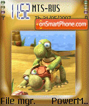 Animated Fun Turtles theme screenshot