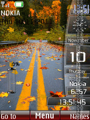 Nature Sidebar tema screenshot
