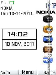 Nokia White theme screenshot