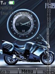 Bike Clock N And Ringtone theme screenshot