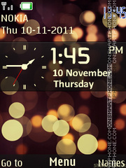 Blackberry Clock 01 theme screenshot