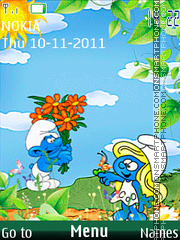 Smurfs 02 theme screenshot