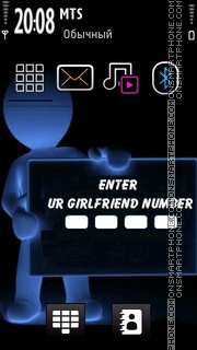 Girlfriend Number Theme-Screenshot