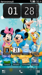 Скриншот темы Mickey N Minnie 01