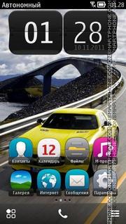 Mercedes Benz SLS AMG E-Cell theme screenshot