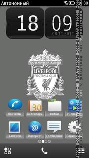 Liverpool FC Grey theme screenshot
