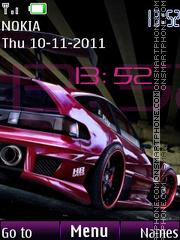 Car Pulse Clock theme screenshot