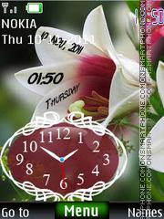 Flower Dual Clock 02 es el tema de pantalla