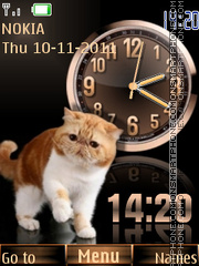 Cat Dual Clock Theme-Screenshot