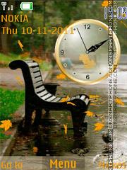 Rainy Day Clock es el tema de pantalla