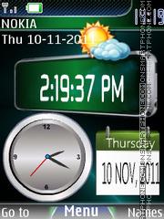 Dual Clock 03 theme screenshot