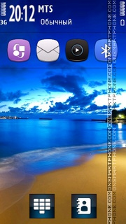 Blue Ocean Nature theme screenshot