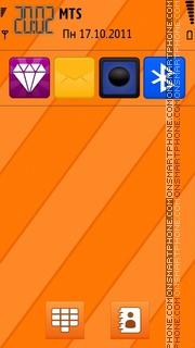 Orange Line theme screenshot