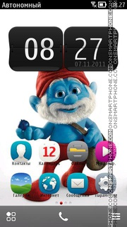 Smurf Papa 01 theme screenshot