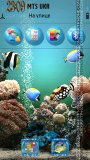 Behind Glass tema screenshot