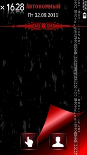 Black Red Avto tema screenshot