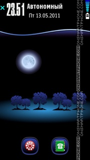 Moon tema screenshot