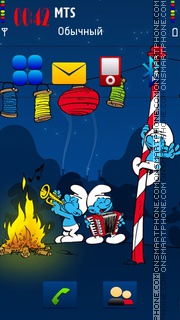 Lets Party Smurfs theme screenshot