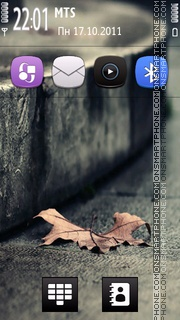 Vintage Leaf Theme tema screenshot