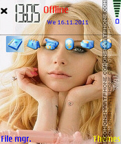 Avril Lavigne 01 theme screenshot