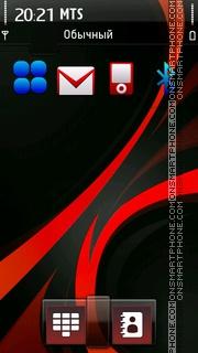 Red Flare tema screenshot