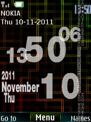 Flashing Clock theme screenshot