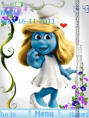 Скриншот темы Animated Smurf