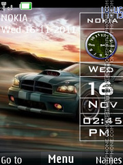 Sidebar Car Clock theme screenshot