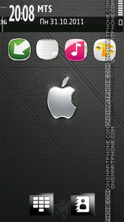Apple Leather es el tema de pantalla