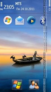 Sea and Boat Hd theme screenshot