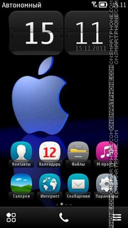 Apple Dark Blue theme screenshot