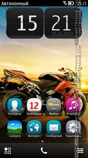 Honda Cbr theme screenshot