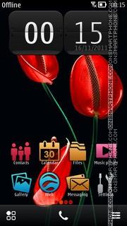 Red Flower 06 theme screenshot