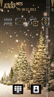 Winter Trees tema screenshot