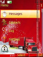 Merry chritmas cola es el tema de pantalla