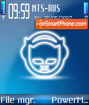 Napster 01 theme screenshot