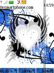 Emo Heart Series Blue theme screenshot