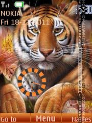 Tiger Clock 03 theme screenshot
