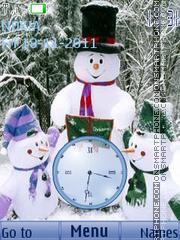 Xmas Clock 01 theme screenshot