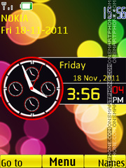 Worldclock theme screenshot