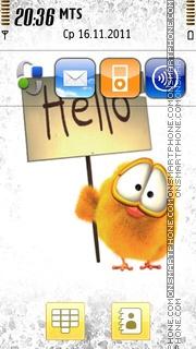 Hello 04 es el tema de pantalla
