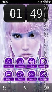 Girl with Apple 01 theme screenshot