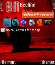 Red Diablo theme screenshot